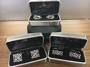 Celtic  Themed  Cufflinks,  Rhodium Plated, Made by Dalaco England