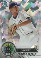 2018 Bowman Chrome Scouts Top 100 Atomic Refractors #BTP-33 Franklin Perez /150