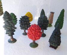 MODEL TREES set 9 small figurines play / cake decorations Safari toob toys