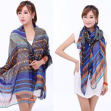 Fashion Women Ladies Long Plain Chiffon Neck Scarf Scarves Wrap Soft Stole Shawl