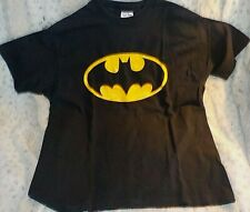 Vintage Batman t-shirt, size XL, black w/classic Batman logo, SofTee 100% cotton