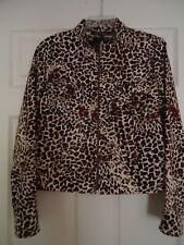 Evelyn & Arthur Zip Up Animal Print Jacket Size 6