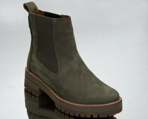 Timberland Courmayeur Valley Chelsea Boots Women's Olive Casual Lifestyle Shoes