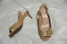 womens cole haan nike air tan open toe slingback heels shoes size 7