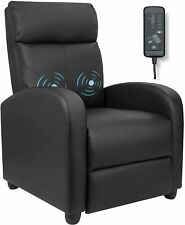 Furniwell Recliner Chair Massage Home Theater Seating Wing Back PU Leather