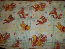 Set of 2 Vintage Disney Winnie the Pooh Tigger Bees Twin Flat Bed Sheets {Fabric