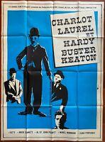 Plakat Charlot, Laurel Und Hardy, Buster Keaton Charlie Chaplin 120x160cm 1970