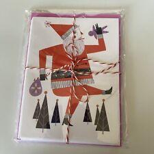 Loris Lora Set Of 5 Santa Christmas Cards