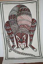 Vintage  Tea Towel  Western Australia Handprinted Kangaroo