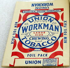 Union Workman Chewing Tobacco Display