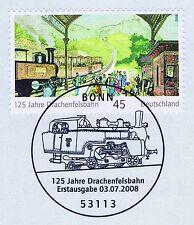 BRD 2008: Drachenfelsbahn Nr. 2681 mit dem Bonner Ersttagssonderstempel! 1A 1807