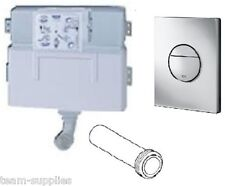 GROHE WC CONCEALED HIDDEN FLUSHING CISTERN 38422 + DUAL FLUSH BUTTON 38765