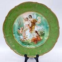 "Antique Carl Tielsch Handpainted Classical Cherub Cabinet Plate Germany 9""W 1""H"