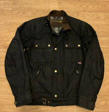 Claymore Full Zip Buckle Navy Blue Motorcycle Jacket Men's Small Made in England