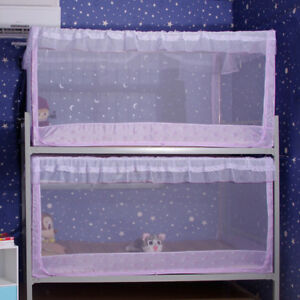 Student Dorm Bunk Bed Curtain Lace Bed Net Stainless Steel Tubes -90x190x90
