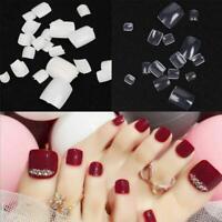 100Pcs Toe Artificial False Nails Nail Art Tips Foot Fake Manicure Toenail D5V5
