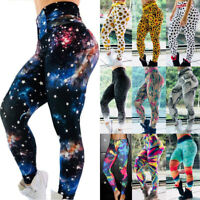 Women Floral Yoga Pants Jogging Gym Fitness Sports Leggings Trousers Sportswear