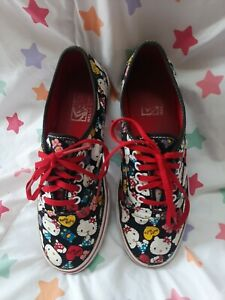 Hello Kitty Sanrio VANS Sneakers Skater Shoes Lace Up Mens 5 Women 6.5 A35-22