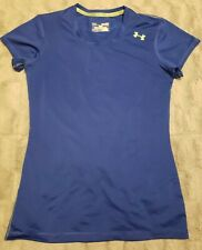 Women's Under Armour Fitter Top Shirt Tee Workout Clothes - Sz XS
