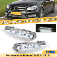 L + R DRL LED DAYTIME RUNNING LIGHT FOR MERCEDES BENZ C CLASS E CLASS W204 W212