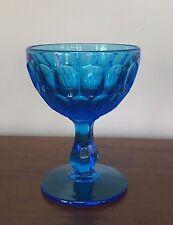 Fenton COLONIAL BLUE THUMBPRINT Champagne Tall Sherbet Glass