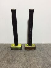 "Lot of 2 Used Wilton 4 lb. Sledge Hammer w 16"" Unbreakable Handle 1.8 Kg 20006"