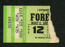 Original and Early 1977 Foreigner concert ticket stub La Crosse Wi Cold As Ice