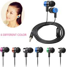 Stereo Subwoofer Earphone In Ear Headset Handsfree W/Mic For Cellphone MP3 4 5