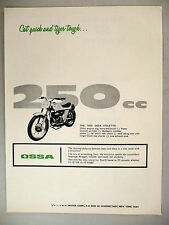 Ossa Stiletto Motorcycle PRINT AD - 1970