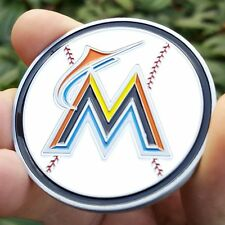PREMIUM MLB Miami Marlins Poker Card Protector Collectors Coin Golf Marker NEW