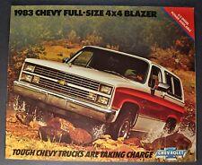 1983 Chevrolet Full-Size Blazer Truck Brochure Silverado K10 4x4 Excellent Orig