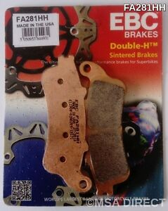 EBC Sintered FRONT Disc Brake Pads Fits KAWASAKI EN650 VULCAN S (2015 to 2021)