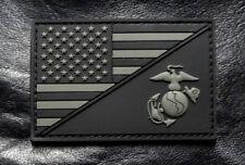 Usa Marine Corps Ega / Usa Flag Tactical Marine Patch (HOOK-3D PVC Rubber-PVM4)