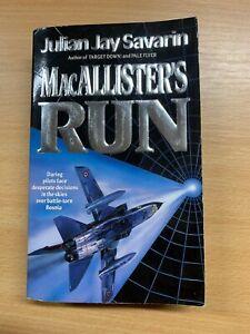 "1995 JULIAN JAY SAVARIN ""MACALLISTER'S RUN"" WAR FICTION PAPERBACK BOOK (P2)"