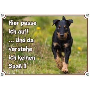 TOP Hundeschild - Deutscher Jagdterrier - wetterfestes Warnschild aus reinem Alu