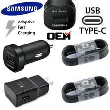 Original Samsung Galaxy Note8 S8 S9 Plus Fast Car Wall Charger 4FT Type-C Cable