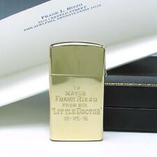 MIB Vintage SOLID 14K Gold Slim Zippo Lighter to Philadelphia Mayor Frank Rizzo