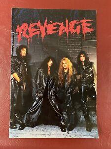 1992 KISS Revenge Tour Book Autographed Paul Stanley Eric Singer Simmons Kulick