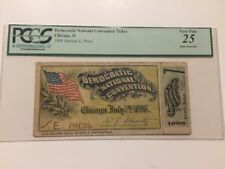 1896 Democratic National Convention Ticket Pass William Jennings Bryan PCGS
