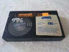 Jaws No Box Betamax Video Tape Cassette