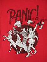 PANIC! AT THE DISCO MEDIEVAL JESTERS WITH DOGS -MEDIUM RED T-SHIRT - C662