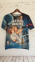 Star Wars Front Print T-shirt Oversized Size 14 Women's Perfect Condition