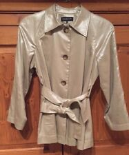 Jones New York Collection Petite Medium Button Down Shimmer Jacket Size PM EUC