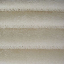 "1/4 yd 300S White Intercal 1/2"" Ultra-Sparse German Mohair Fur Fabric"