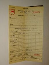 original 1936 Standard Oil of New York SOCONY Invoice Receipt 296471 Gas