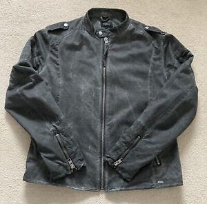 TIGHA Bikerjacke Gr XXL Grau Vintage Neuwertig