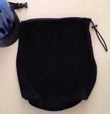 Equestrian Helmet Black Fleece Drawstring Carrying Storage Bag