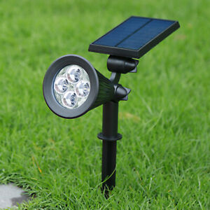 Solar Powered RGB Colour Changing LED Light Spotlight Garden Party Stake Lamp