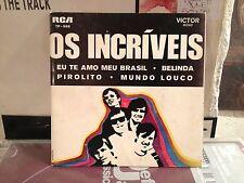 """Os Incriveis-Eu Te Amo Meu Brasil 7""""-PSYCH FUZZ ROCK-PORTUGUESE PRESSING-RARE!!!"""