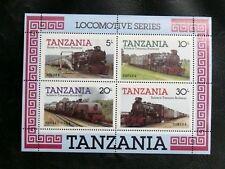 TIMBRES DE TANZANIE : 1985 YVERT BLOC FEUILLET N° 41** NEUF - THEME TRAINS - TBE